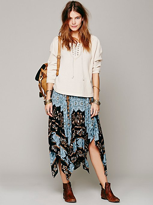 Free People Tribal Fly Away Skirt