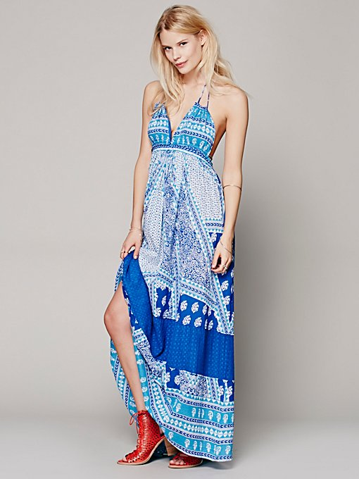 Free People Printed Halter Dress in Dresses