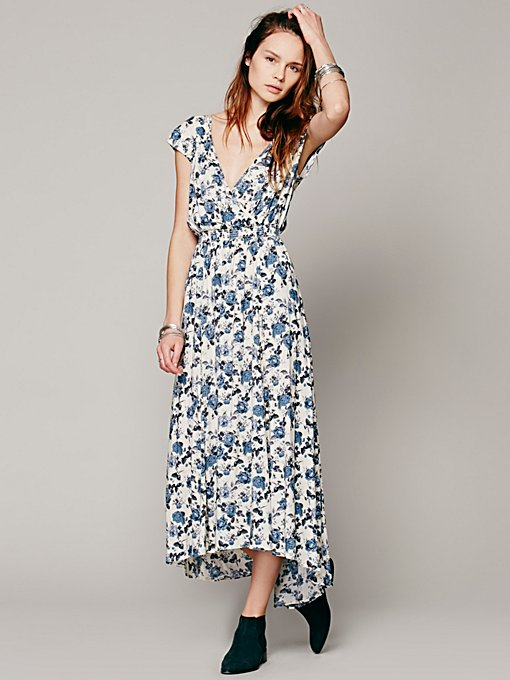 Free People Shadowplay Maxi Dress in Dresses