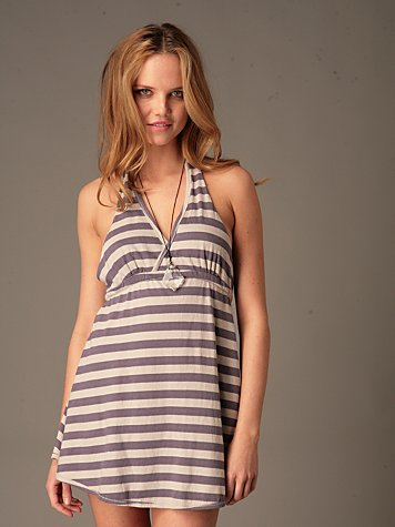 Striped Halter Dress