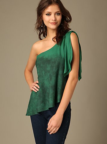 Free People Clothing Boutique > Shimmy Shoulder Top :  bohemian chic boho green boho chic